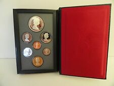 1989 ROYAL CANADIAN MINT DOUBLE DOLLAR 7 COIN PROOF SET IN ITS ORIGINAL BOX