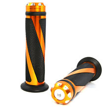 "CNC 7/8"" Universal Motocross Grips Handlebar for KTM DUKE RC 125 200 390 Orange"