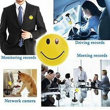 Compatto Secret Smile Badge DVR Spy Camera nascosta sotto copertura Faccina Sorridente Pin