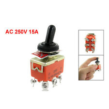 15A/250VAC on/off/on 3 Position DPDT Toggle Switch with Waterproof Boot BTSZUK