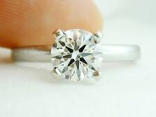 AGS CERTIFIED .71CT H/VS2 Round Diamond Ring Same Company Hearts on Fire uses!