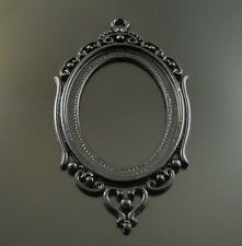 6pcs Black Tone Alloy Hollow Cameo Setting Finding Inner Size:40*30mm 34157