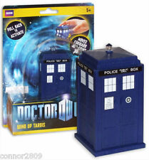 NEW DOCTOR WHO WIND UP TARDIS (PULLBACK ACTION) MOVES FORWARD & SPINS 360%.