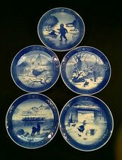 ROYAL COPENHAGEN CHRISTMAS PLATES 1965 1966 1967 1968 1969 (lot Of 5 - Nice