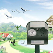 Solar PIR Motion Sensor Sound Flashlight Animal Repeller Repellent Birds Cat Dog