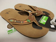 SANUK MENS SANDALS FRAID SO TAN MULTI SMS2138 TMLT SIZE 11