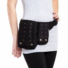 New Black Multiple pockets Cotton Eco fanny pack utility belt-70158