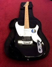 Fender Squier 51 Vintage Style Electric Guitar (Black) With Gig Bag