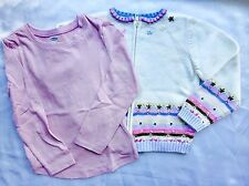 Gymboree Snow Princess Sz 5 Zip-Up Cardigan Sweater Sequins & Beads  EUC + TOP!