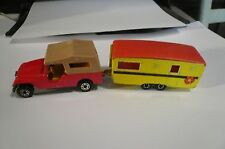 Matchbox1977 Superfast CJ8 Jeep &trailer caravan 1970