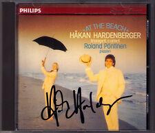 Hakan HARDENBERGER Signed AT THE BEACH Ibert Bitsch Weide Waldteufel PÖNTINEN CD
