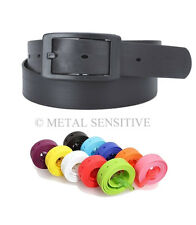 Men's Women's Silicone Belt Rubber Plastic Buckle Plain Leather Style Adjustable