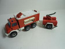 Mercedes Benz Unimog 406 mit Anhänger  Feuerwehr Siku Nr. 2913
