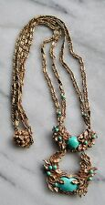 Vintage MIRIAM HASKELL Designer Turquoise Necklace