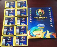 PANINI 2016 COPA AMERICA CENTENARIO 10 PACKS (TOTAL 80 STICKERS) + ALBUM
