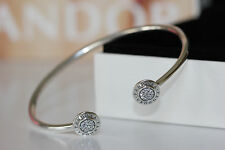 AUTHENTIC PANDORA 590528cz-S1 SIGNATURE BANGLE NEW IN GIFT BOX S925 ALE SMALL