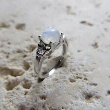 Size 5 3/4, Size L, Size 51, Blue MOONSTONE Ring in 925 STERLING SILVER #0052