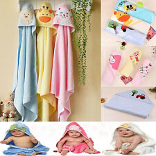 Soft Baby New Cartoon Wrap Kids Bath Washcloths Cotton Hooded Towel