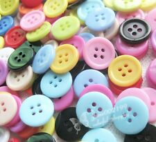 100x Mini 15mm Plastic Buttons Sewing/Appliques/Baby's Crafts Lots Color NK018