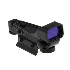 1x Sight Air Soft Tactical Red Dot Reflex Sight Laser Scope LED Weaver Base 20mm
