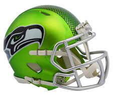 "NEW! 2017 ""Satin Chrome"" Edition SEATTLE SEAHAWKS Full Size NFL Football Helmet"