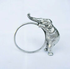 Pewter Elephant Napkin Ring Holder Thailand Handmade Collection FREE SHIPPING