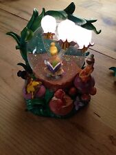 Disney Snow Globe Tinker bell And Fairies Light Up Flowers Rare
