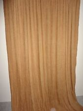 """CROSCILL CRUSHED CHENILLE HONEY AMBER GOLD (PAIR) LONG CURTAINS PANELS 42 X 96"""""""
