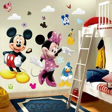 Mickey Mouse Minnie Vinyl Mural Wall Sticker Decals Kids Nursery Home Decor P6