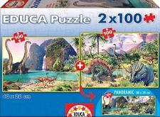 Puzzle per bambini 100 pezzi-dinowelt (2 x 100 pezzi) di educa