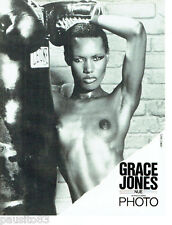 PUBLICITE ADVERTISING 086  1981  Photo  Grace Jones nue