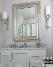 """Boutique 41"""" Solid Wood SILVER Classic Wall Mirror Vanity Layered Antique"""