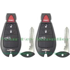 2 New Uncut Replacement Fobik Key Fob Keyless Remote Clicker Transmitter Trunk
