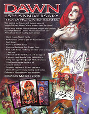 DAWN 15TH ANNIVERSARY 2005 DYNAMIC FORCES PROMO PROMOTIONAL SELL SALE SHEET