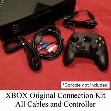 New Connection Kit - Controller + Component Cable + AC Power Cord XBOX Original