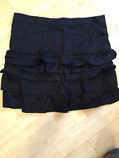 Old Navy Sz 14 Black Skirt, Layered Ruffles