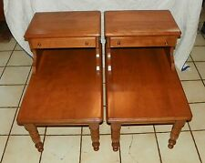 Pair of Maple Step End Tables / Side Tables by Baumritter  (BM-T225)
