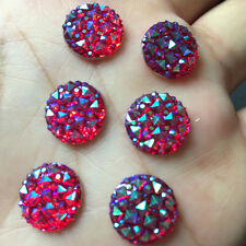 12mm Round AB Resin flatback Scrapbooking for phone Crafts rose 20 pcs