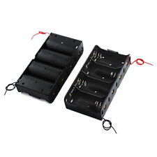 D Size DC 4 Cells Battery Power Supply Holder Holds Case Box with Wire