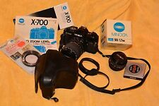 MINOLTA X-700  w/50/1.7MD, MD 25-85mm, EXCELLENT & more