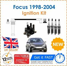 Ford Focus 1.8 1998-2004 Ignition Spark Plugs Coil Pack HT Leads Set NEW