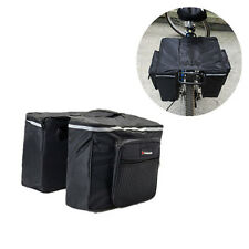 Cycling Bicycle Bike Rack Back Rear Seat Tail Carrier Trunk Double Pannier Bag L
