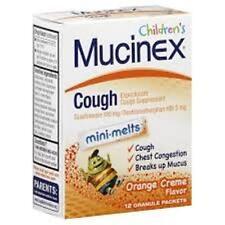 Mucinex Children's Cough Mini-Melts, Orange Cream, 12-Count (3 Pack)