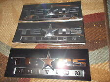 2007 2008 2009 2010 2011 2012 2013 CHEVROLET SILVERADO TEXAS EDITION 3PC EMBLEMS