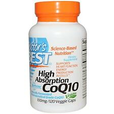 Doctor's Best, High Absorption CoQ10, 100 mg, 120 Veggie Caps