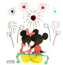 Mickey Mouse Minnie Watching Fireworks Disneyworld Disney 3D Stickers