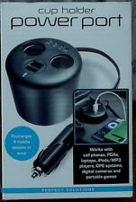 Perfect Solutions Cup Holder Power Port - Recharges 4 devices - BRAND NEW IN BOX