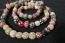 Strang antike Glasperlen 77cm Antique Venetian African Trade Eye beads Afrozip