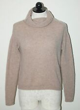 Rebecca Taylor 100% Cashmere Beige Roll Turtleneck Sweater M