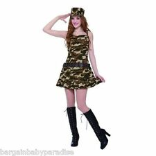 NWT Army Cadet Costume 2 Pc Dress & Hat Set Teen Girls One Size